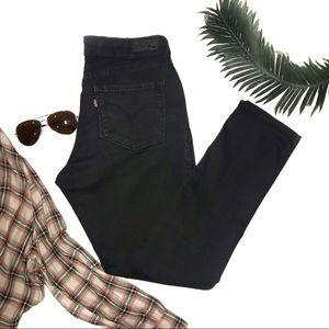Levi's Bold Curve Skinny Jeans Black Size 12